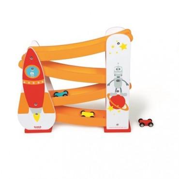 Rakieta Kosmiczna-Zjeżdżalnia dla samochodów Scratch