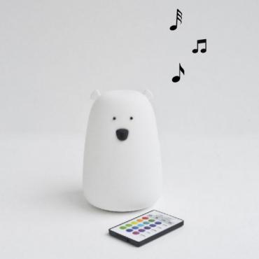 Lampka Miś z głośniczkiem Rabbit&Friends