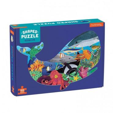 Puzzle konturowe wieloryb...