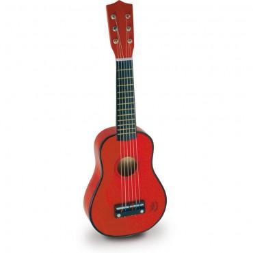 Gitara Czerwona drewniana...