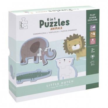 Puzzle Zoo-6 elementów...