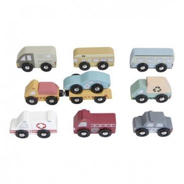 Zestaw 9 pojazdów Little Dutch