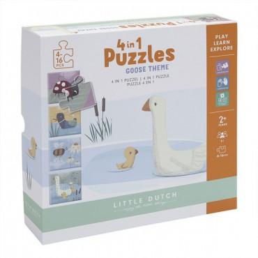 Puzzle 4 rodzaje zwierzątek...
