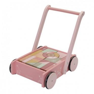 Wózek z klockami Róż...