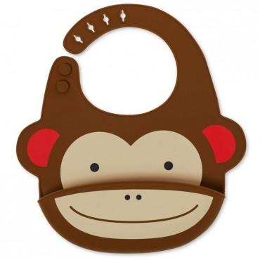 Śliniak silikonowy Zoo Małpa Skip Hop