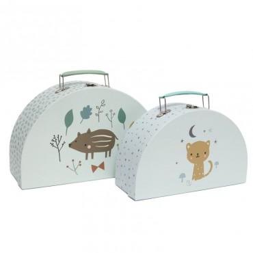 2 walizki Forest Friends -...