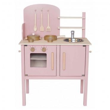 Drewniana kuchnia pastelowy...