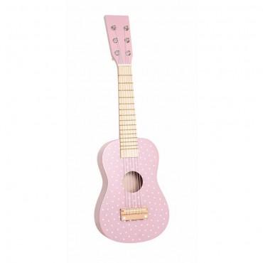 Drewniana gitara różowa...