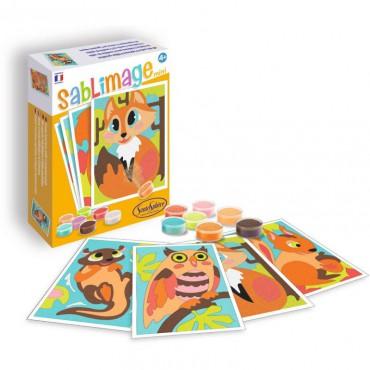 Zwierzęta leśne 4 obrazki...