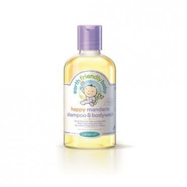 Earth Friendly Baby Organiczny szampon i płyn do mycia 2w1 o zapachu mandarynki, 250ml