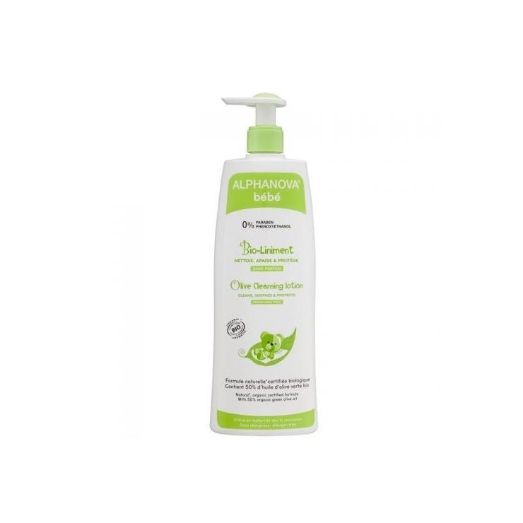 Alphanova Bebe Organiczna oliwka z wodą wapienną do mycia i kąpieli, 500 ml