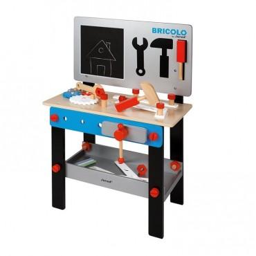 Stolik warsztat drewniany magnetyczny z 24 elementami Bricolo Janod