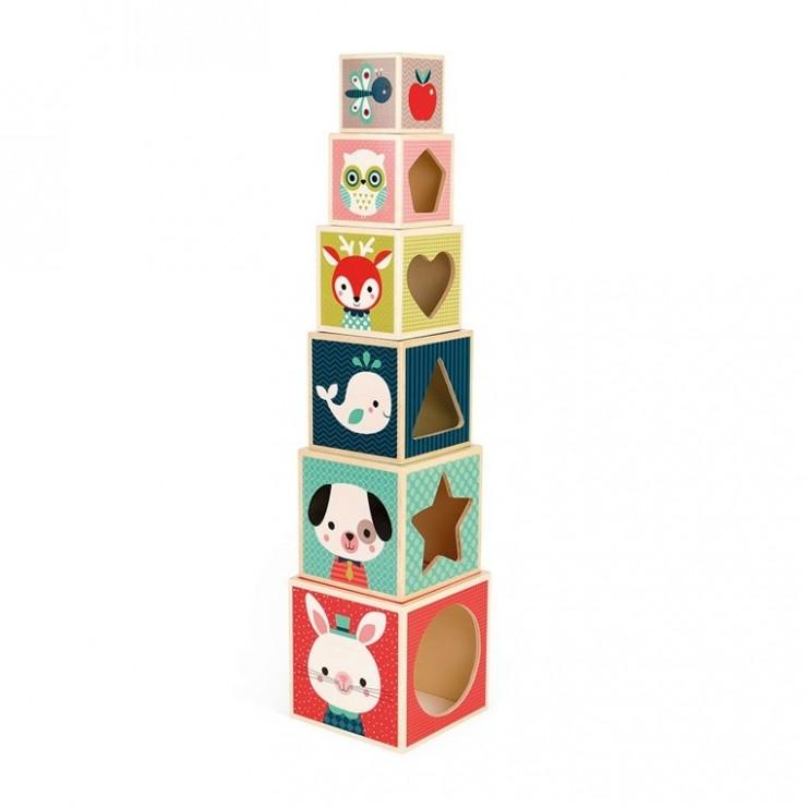 Piramida wieża drewniana Baby Forest Janod