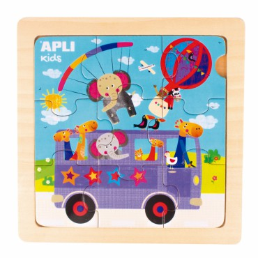 Drewniane puzzle - Autobus...