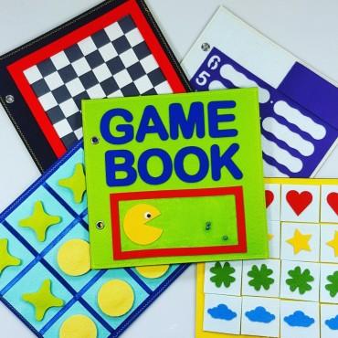 Książka pełna gier logicznych Game Book Felt For Fun
