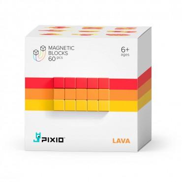 Klocki magnetyczne Pixio Lava Abstract Series