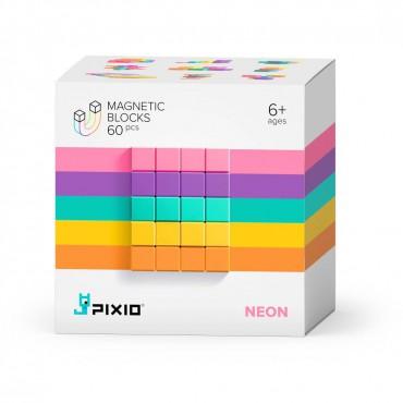 Klocki magnetyczne Pixio Neon Abstract Series