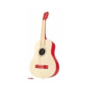 Czerwona gitara akustyczna Hape