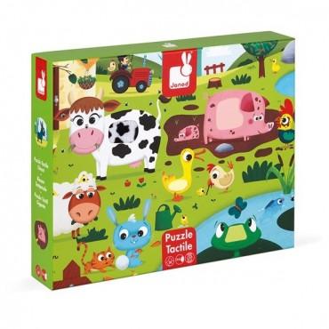 Puzzle sensoryczne 20 elementów Farma Janod