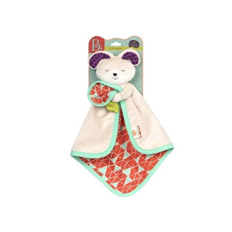 Kocyk przytulanka dla niemowląt Króliczek B. Toys