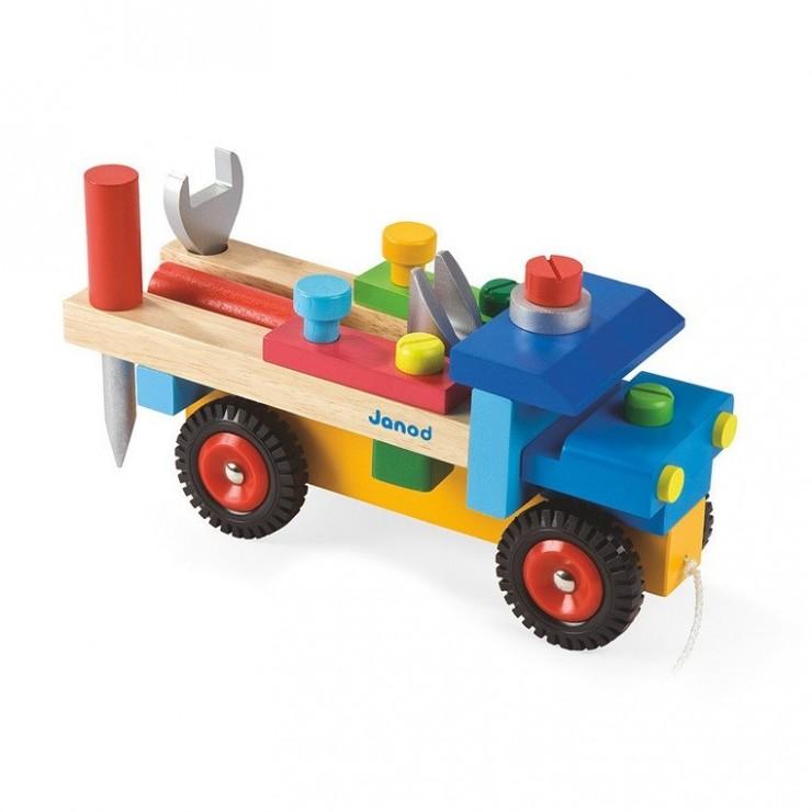 Ciężarówka do składania drewniana duża Janod