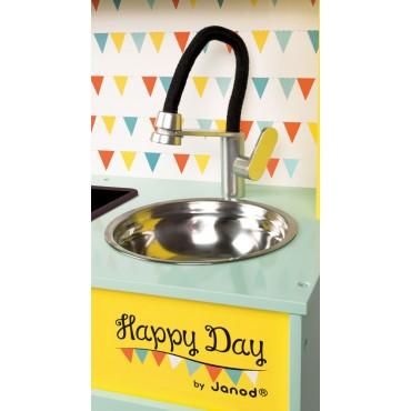 Kuchnia drewniana z dźwiękiem i z 7 akcesoriami Happy Day Janod