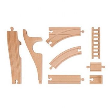 Straż pożarna kolejka drewniana zestaw 33 części Janod