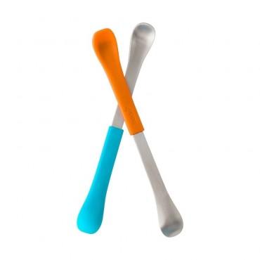 Dwustronne łyżeczki Orange/Blue Boon