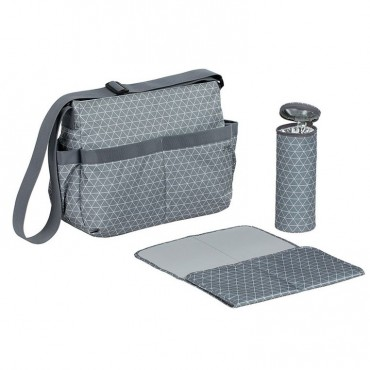 Lassig Marv Torba z akcesoriami Shoulder bag Tiles grey