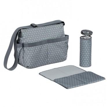 Lassig Marv Torba z akcesoriami Shoulder bag Tiles grey