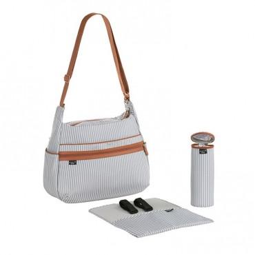 Lassig Marv Torba z akcesoriami Urban bag Pinstripe light grey
