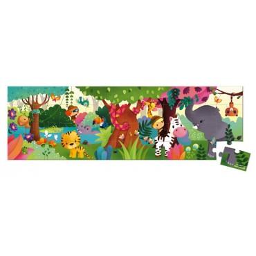 Puzzle panoramiczne w walizce Dżungla 36 elementów Janod