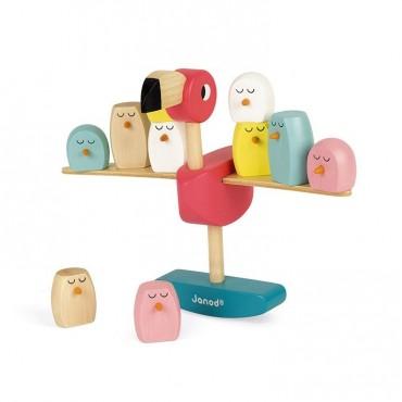 Gra balansowa drewniana Flamingi Janod