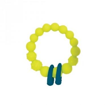 Gryzak silikonowy kółko z pierścieniami - seledynowy B. Toys