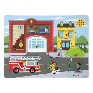 Straż pożarna układanka z dźwiękiem Melissa & Doug