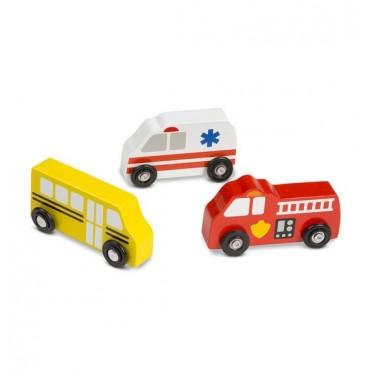 Zestaw pojazdów miejskich Melissa & Doug