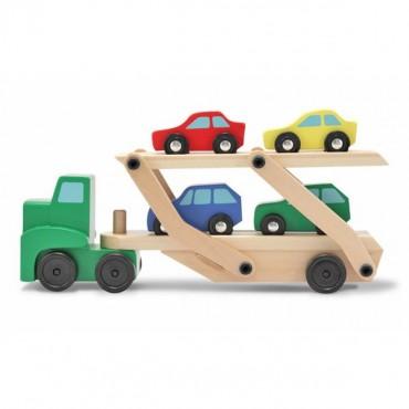Laweta wóz transportowy z samochodami Melissa & Doug