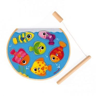 Puzzle z magnesami Szybkie rybki z wędką Janod