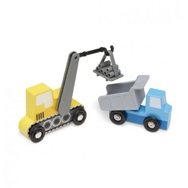 Zestaw samochodów budowlanych Melissa & Doug