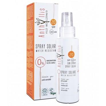 EKO BIO Spray przeciwsłoneczny SPF 20 A+++ (10.0/10.0) chroni przed UVA i UVB dla skóry wrażliwej WODOODPORNY 100 ml Anthyllis