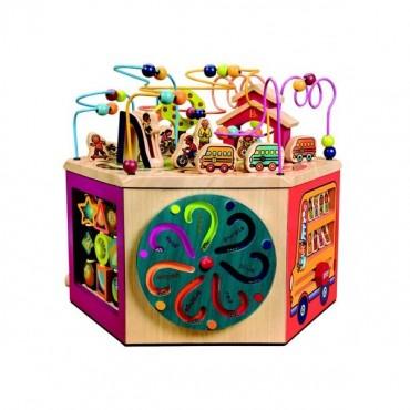 Gigantyczna drewniana kostka edukacyjna YOUNIVERSITY B. Toys
