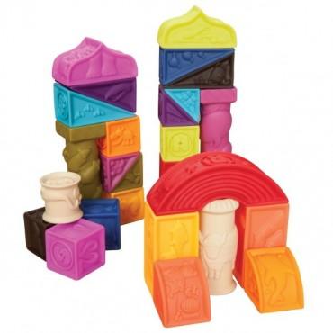 Klocki miękkie zestaw duży B. Toys