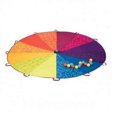 Spadochrona animacyjny z kolorowymi piłeczkami B. Toys