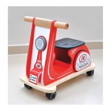 Drewniany jeździk Jamm Scoot czerwony Indigo Jamm
