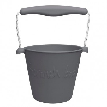 Scrunch-bucket Zwijane wiaderko silikonowe, Ciemny Szary, Antracyt Funkit World