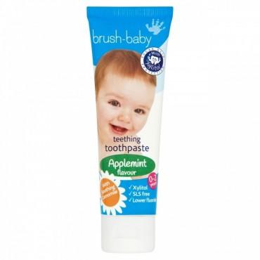 Brush-Baby - pasta do zębów dla dzieci w wieku od 0-2 lat, smak jabłkowo-miętowy (50 ml)