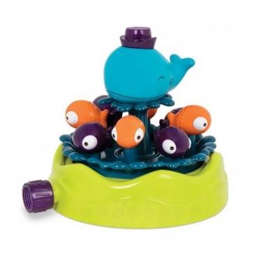 Zraszacz ogrodowy WIELORYB z rybkami B. Toys Whirly Whale Sprinkler