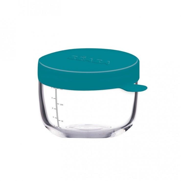 Beaba Pojemnik słoiczek szklany z hermetycznym zamknięciem 150 ml blue