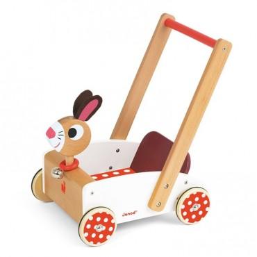 Szalony królik wózek chodzik Janod